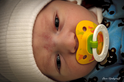 Josh and his yellow NUK