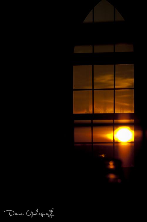 Brilliant Sunset Church Window