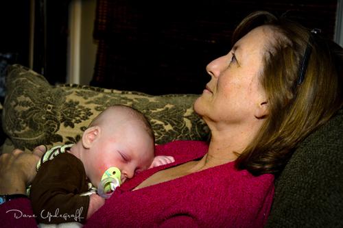Josh Asleep On Grandma