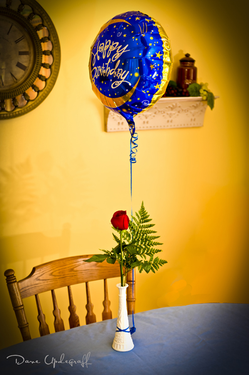 My Balloon and Rose