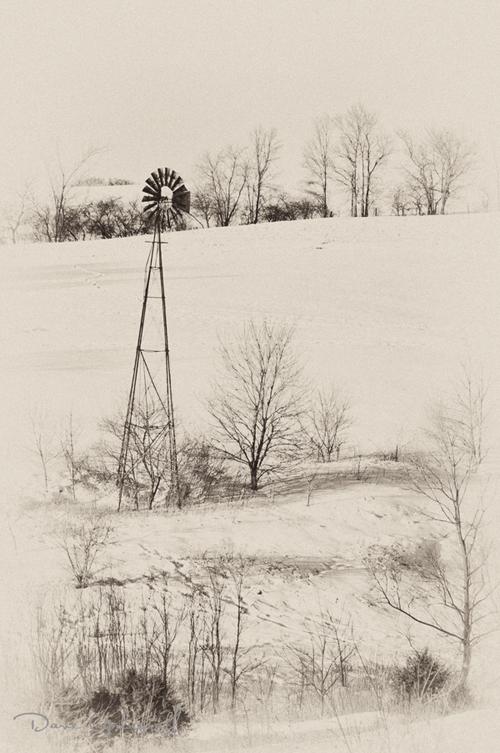 Winter Windmill