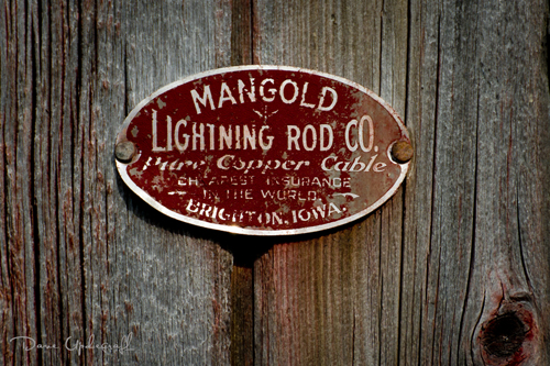 Name Plate for Lightning Rods