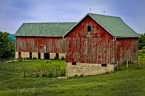 A seasoned barn