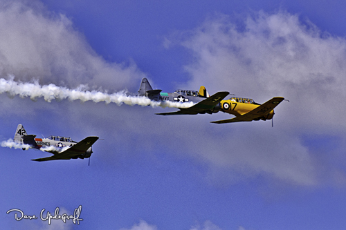 T-28 Trainers In Formation