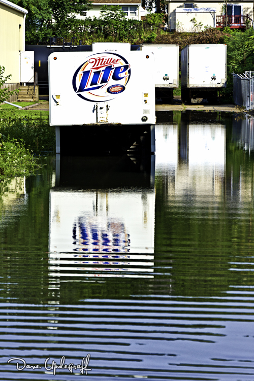 Flooded trailers on Kerpre Blvd.