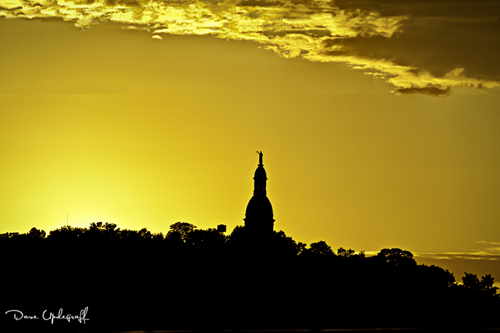 Dubuque at sunset