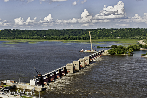 Lock and Dam #10 at Dubuque, Iowa