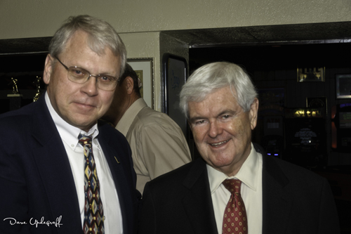 Me and The Former Speaker Of The House Newt Gingrich
