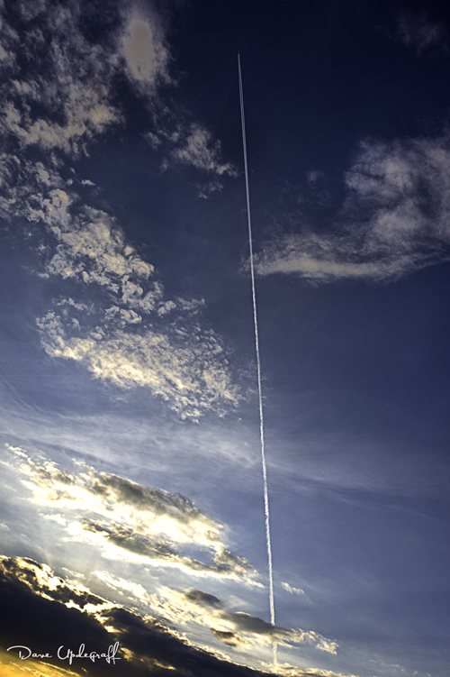 Jet Streaks Across an Autumn Sky