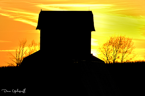 Another Sunset behind a barn