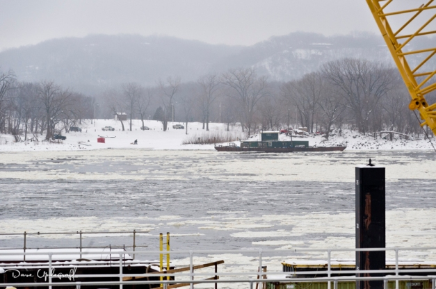 Weather conditions at Dubuque lock and dam