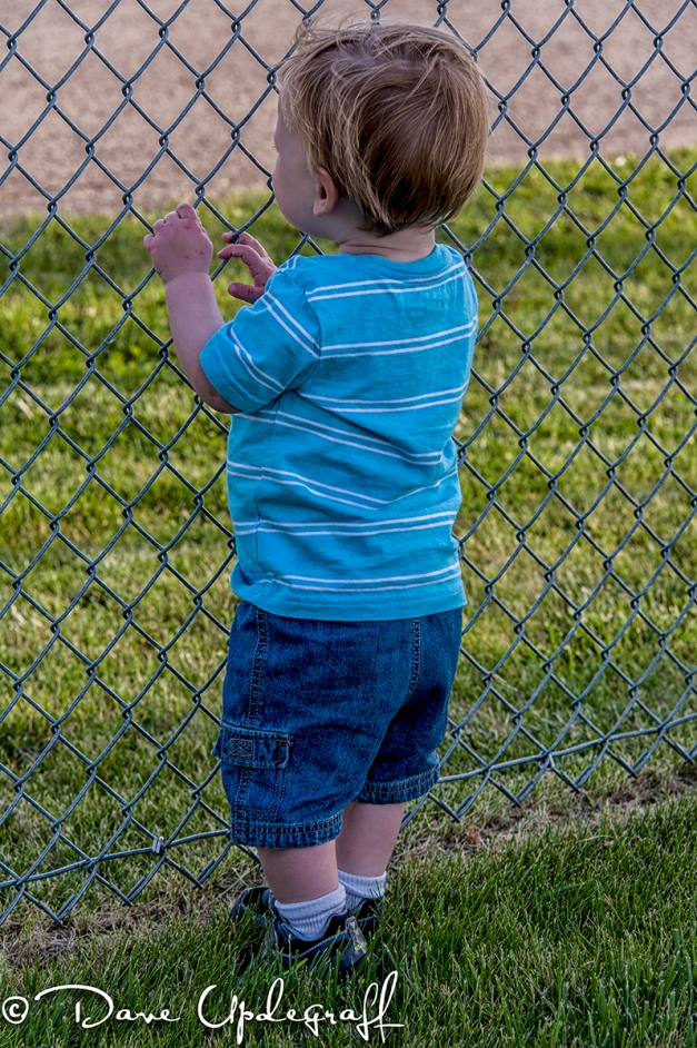 Joshua at the fence
