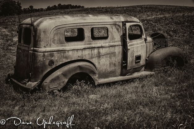 An old panel truck