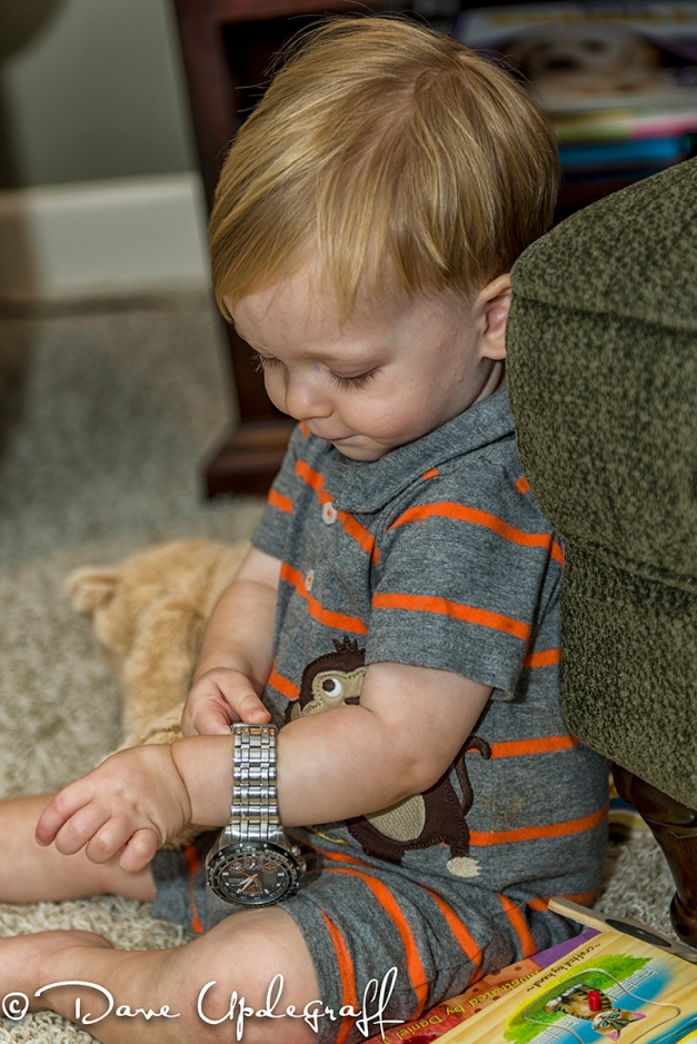 Joshua Plays With Grandpa's Watch