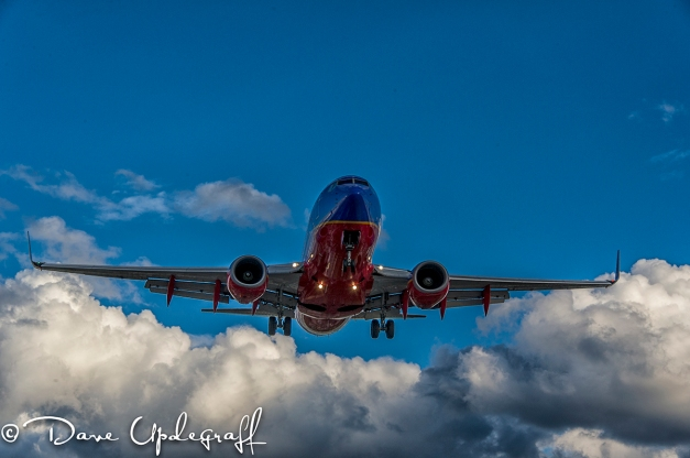Southwest Flight on Final Approach at Midway Airport