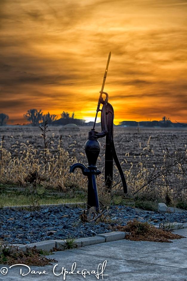 Pump at sunset