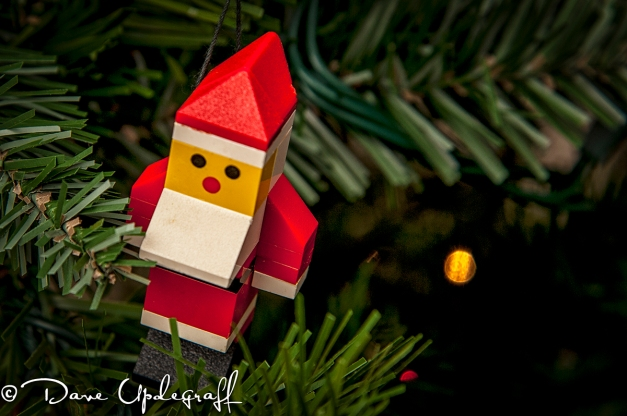 Leggo Santa Ornament