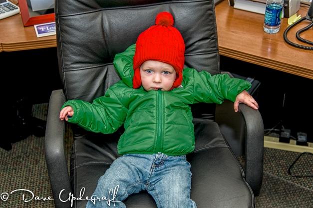 Josh in Poppa's chair