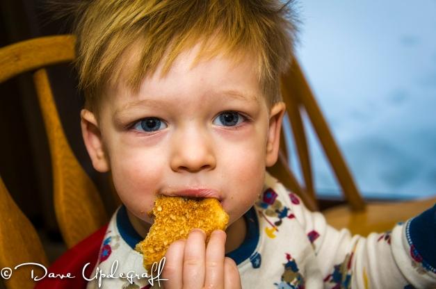Joshua and his toast