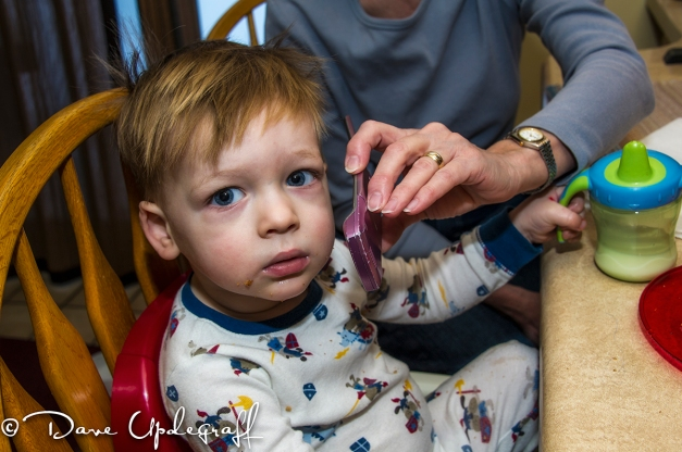 Josh talks to Mommy