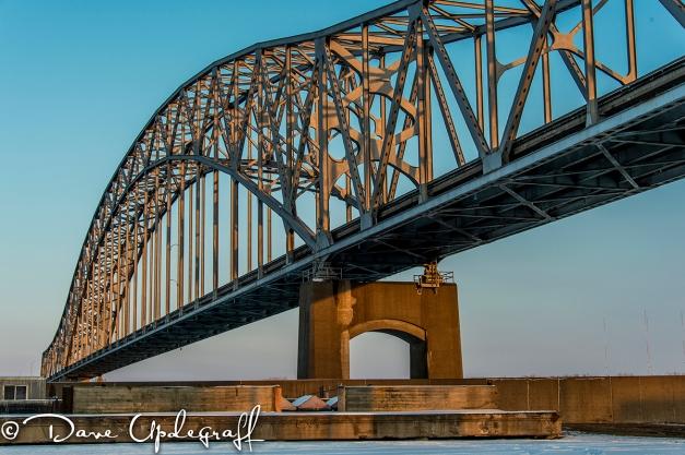 Julian Dubuque Bridge in the evening sun