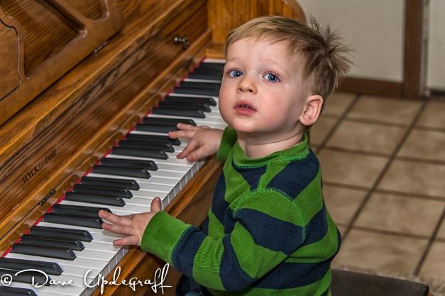 Joshua Plays for Grandma and Gradpa