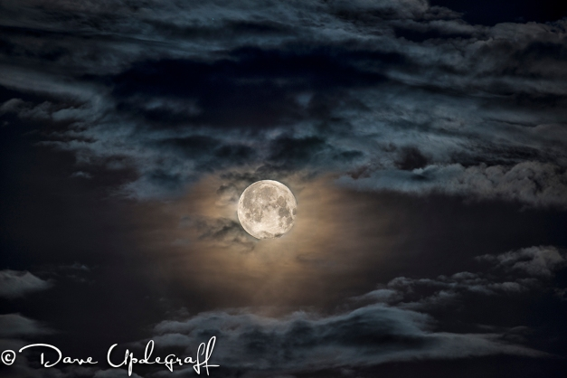 Cloudy Moon Shot