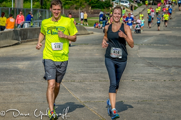 Angie and Ben finish the Grandview Gallop