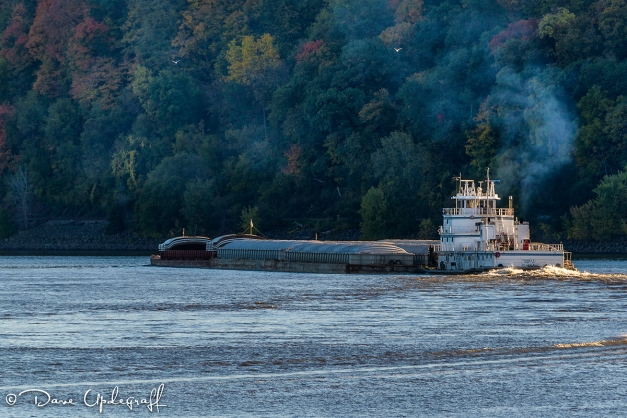 A barge on the Mississippi