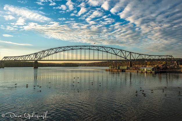 Julian Dubuque Bridge at sunrise