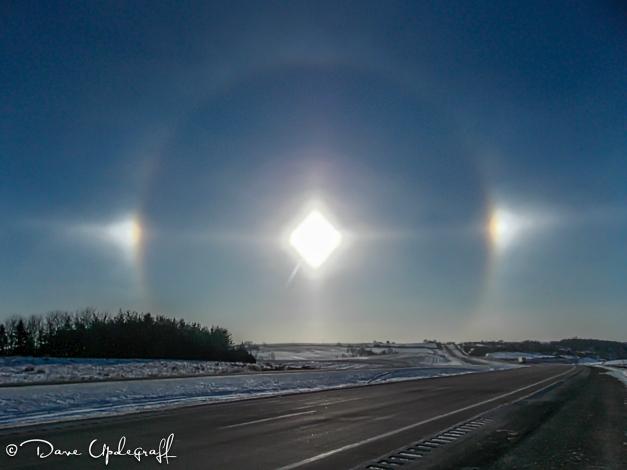 A rainbow around the sun