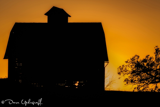 Corn Crib at Sunset