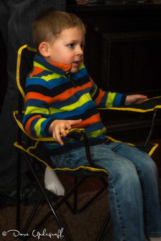 Josh in his new chair